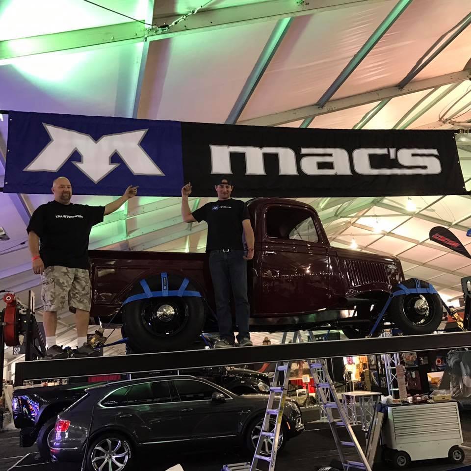 Mac's Barrett Jackson set up
